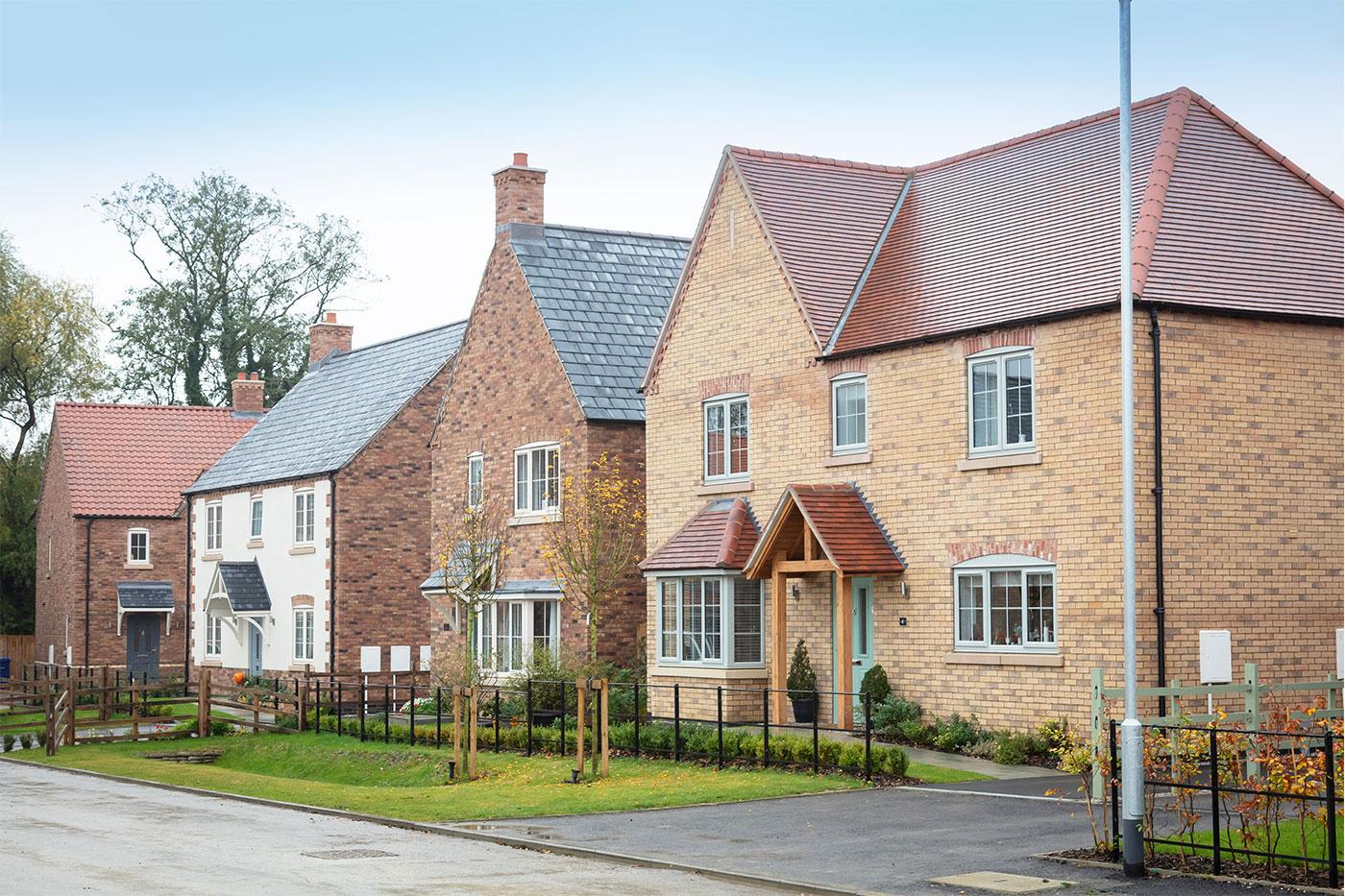 New homes on Lodge Lane in Nettleham