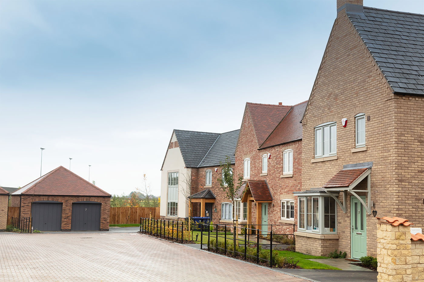 A row of 3 houses on Lodge Lane in Nettleham