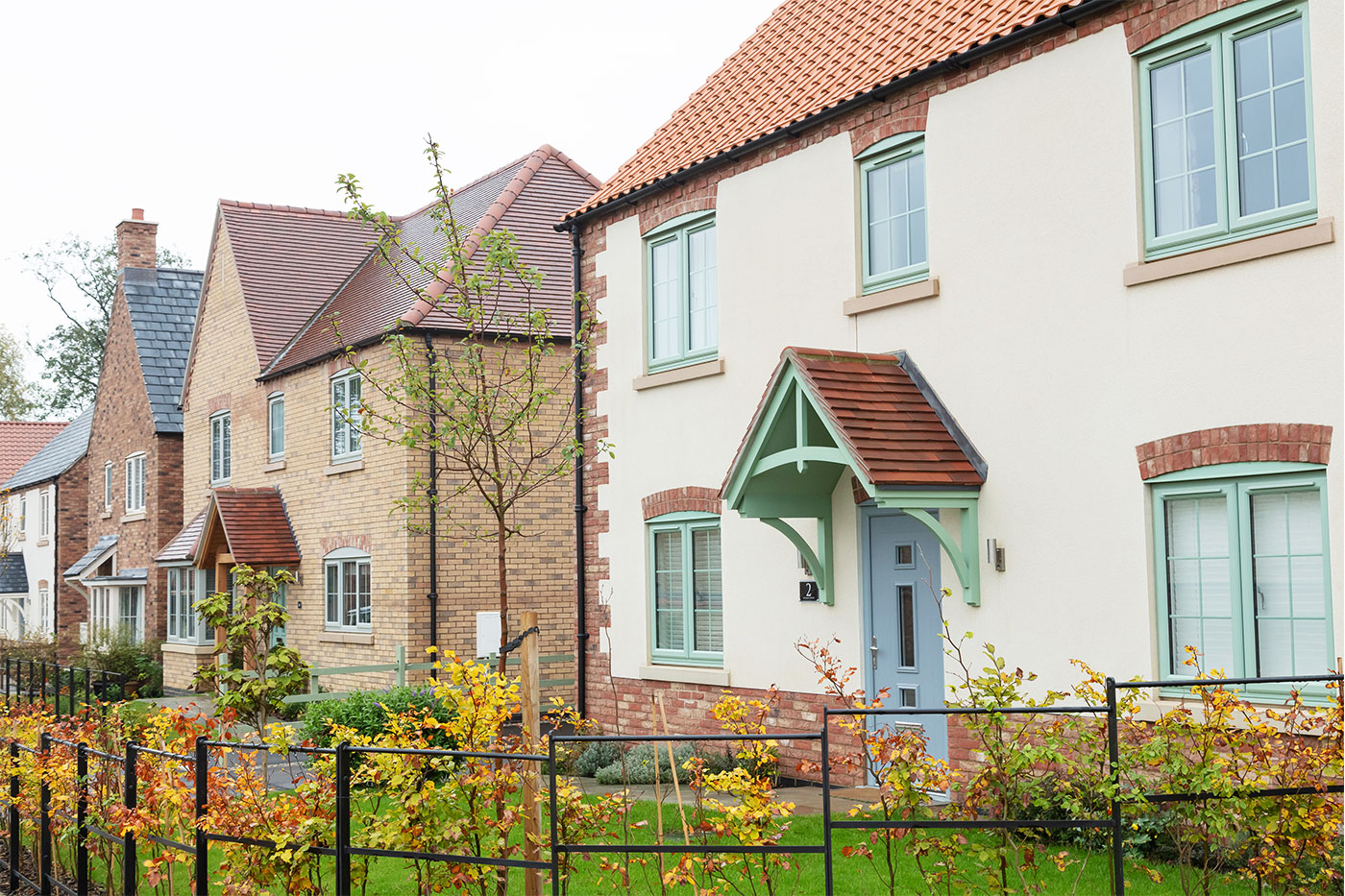 A row of new homes on Lodge Lane in Nettleham